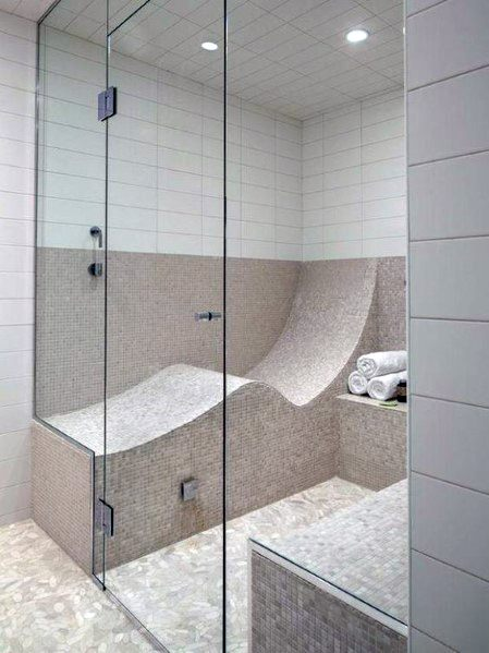 Nice Shower Bench Interior Ideas Curved Seat Designs
