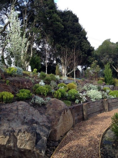 Nice Slope Landscaping Exterior Ideas