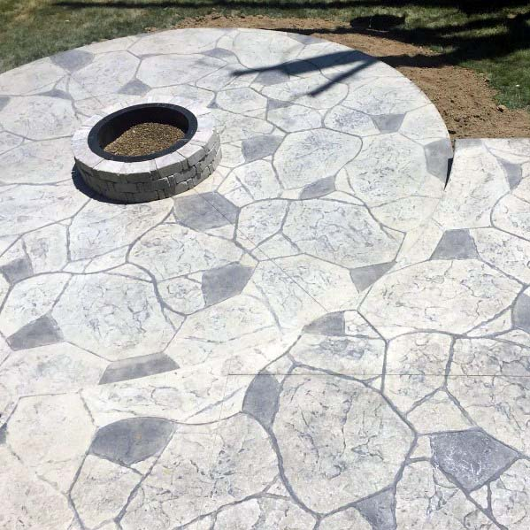 Nice Stamped Concrete Patio Backyard Ideas