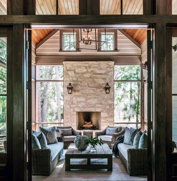 Nice Stone Fireplace Design Ideas