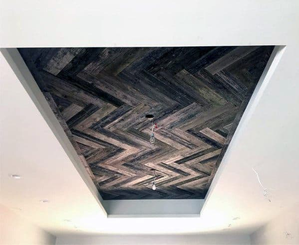 Nice Trey Ceiling Interior Ideas With Wood Design