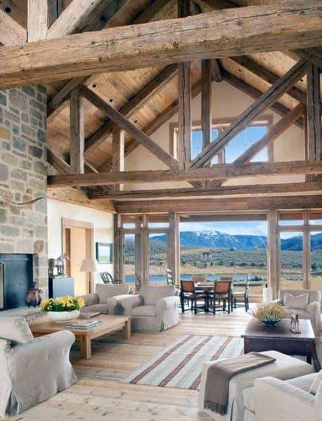 Nice Vaulted Ceiling Interior Ideas Living Room Area