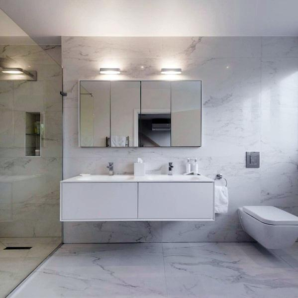 Nice White Bathroom Interior Ideas