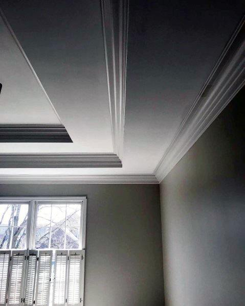 Nice White Trey Ceiling Ideas