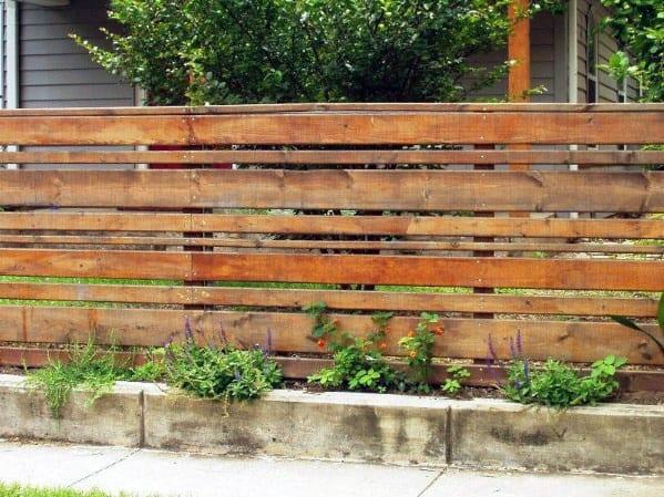 Nice Wooden Fence Backyard Ideas