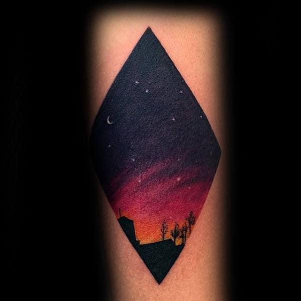 Night Sky Small Unique Tattoos For Gentlemen