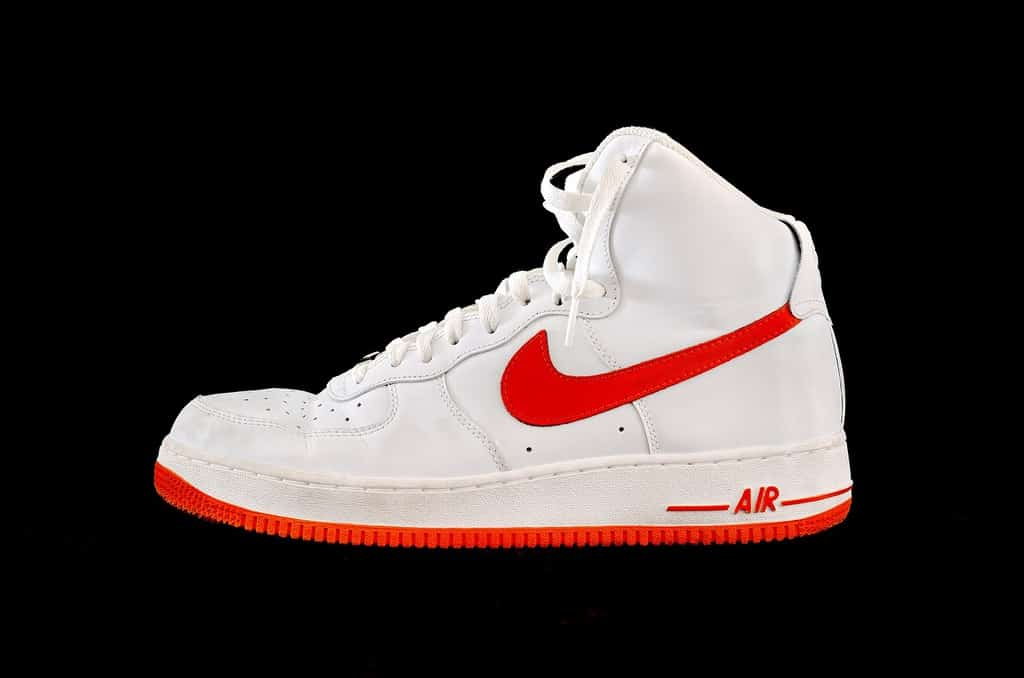 A Nike Air Top Air Force 1 pair of sneakers.