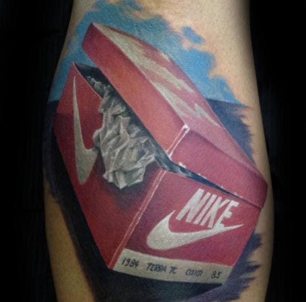 Nike Shoe Box Mens Realistic 3d Arm Tattoo