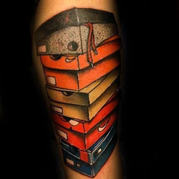 Nike Shoeboxes Mens Forearm Tattoo