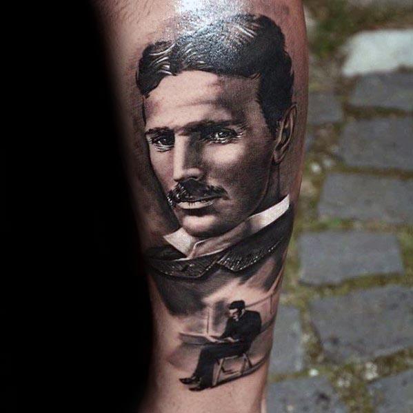Nikola Tesla Guys Tattoo Designs