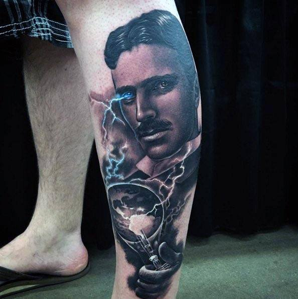 Nikola Tesla Guys Tattoo Ideas