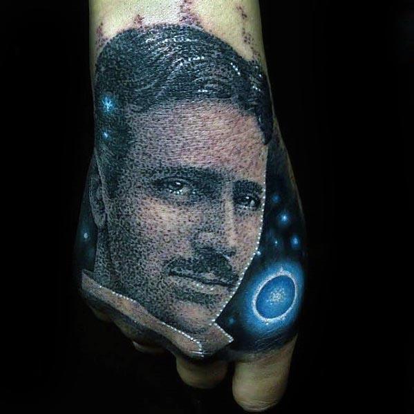 Nikola Tesla Guys Tattoos