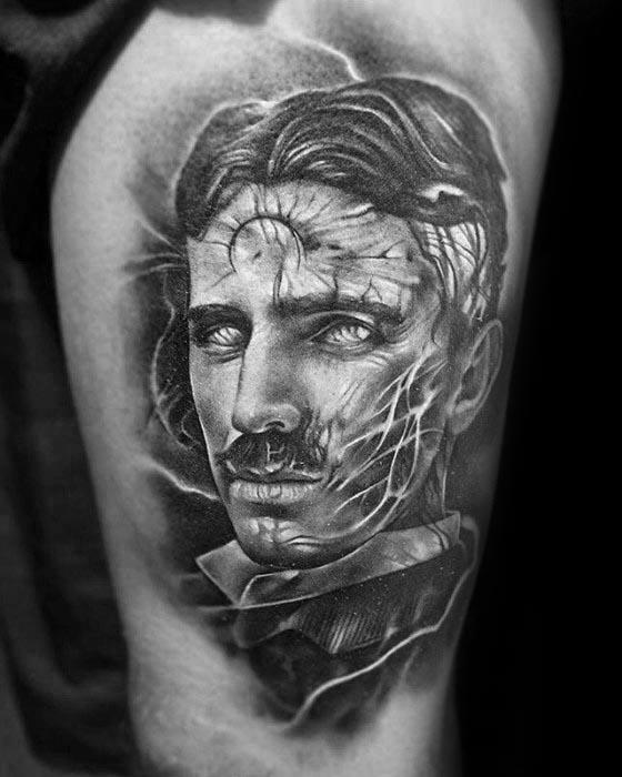 Nikola Tesla Tattoo Design Ideas For Males