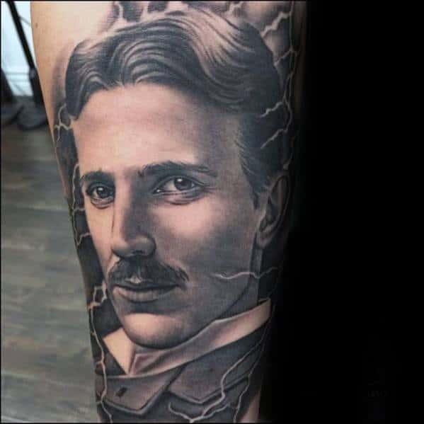 Nikola Tesla Tattoo Designs For Guys