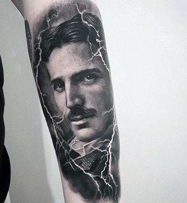 Nikola Tesla Tattoo Ideas For Gentlemen