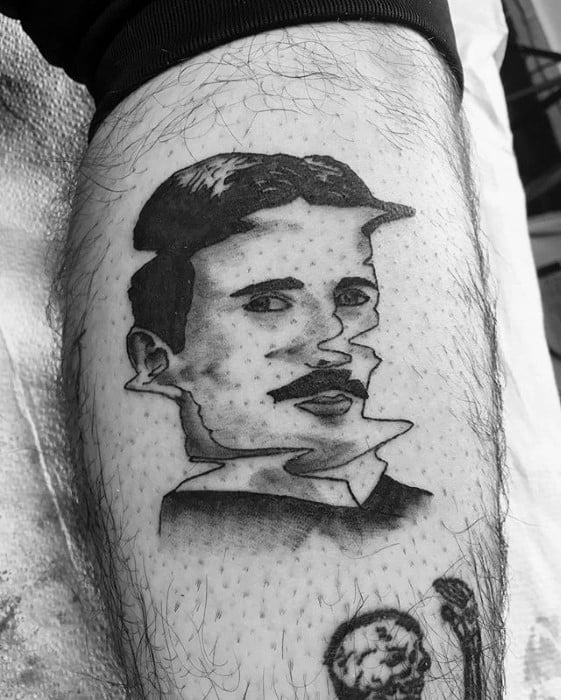 Nikola Tesla Tattoo Ideas For Males