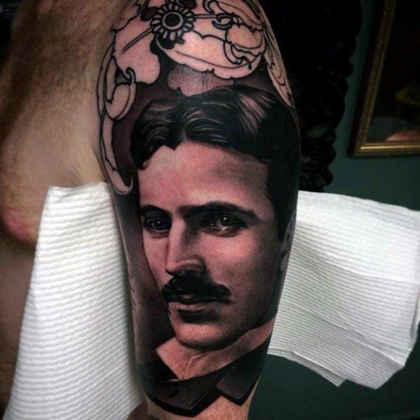 Nikola Tesla Tattoos For Gentlemen