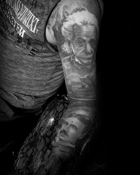 Nikola Tesla Tattoos Guys