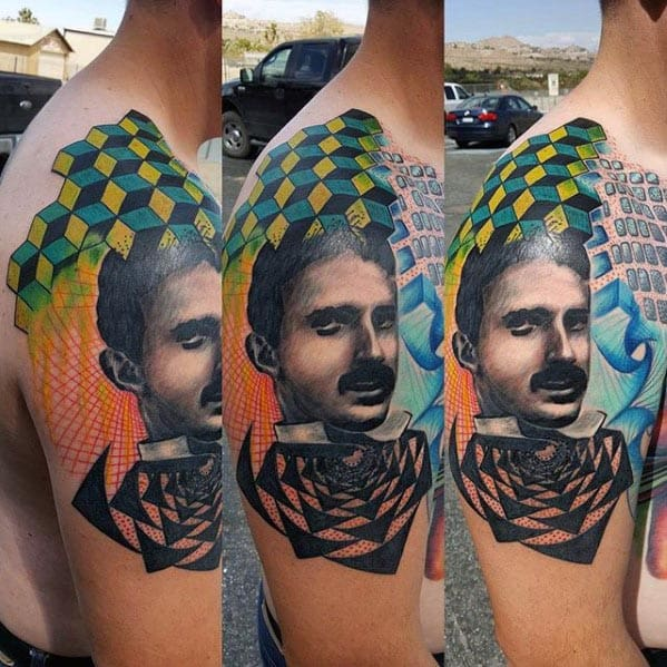 Nikola Tesla Tattoos Male