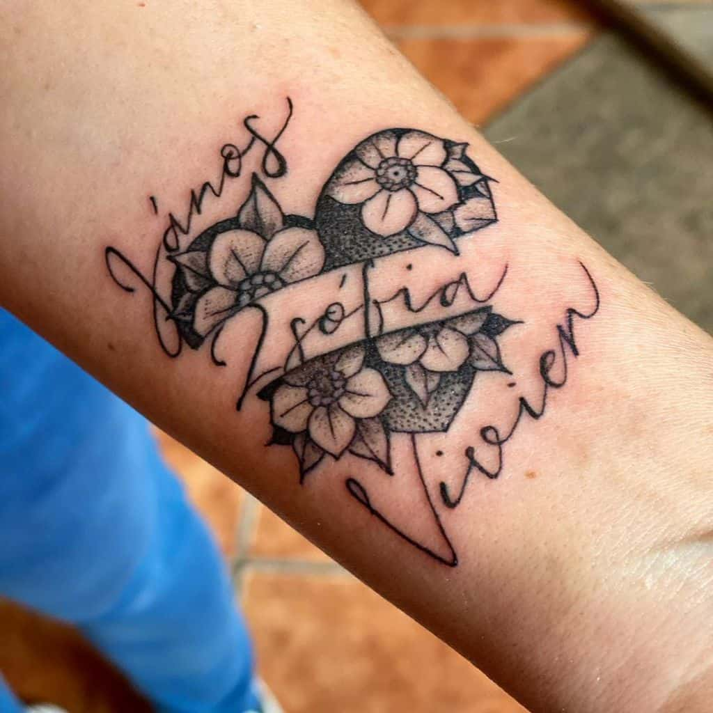 Traditional and Neo Traditional heart tattoo nimrodtat2