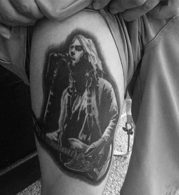 Nirvana Tattoo Design On Man