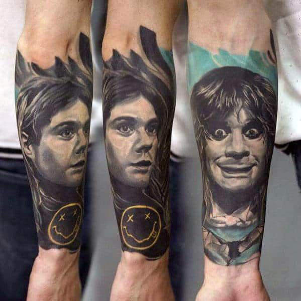 Nirvana Tattoos Guys