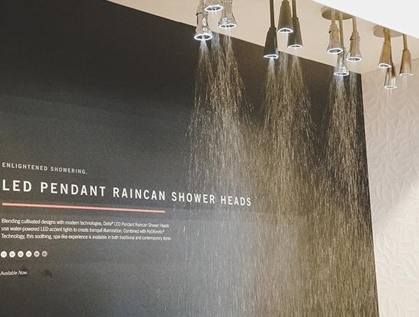 Nkba Kitchen And Bath International Show Led Pendant Raincan Shower Heads
