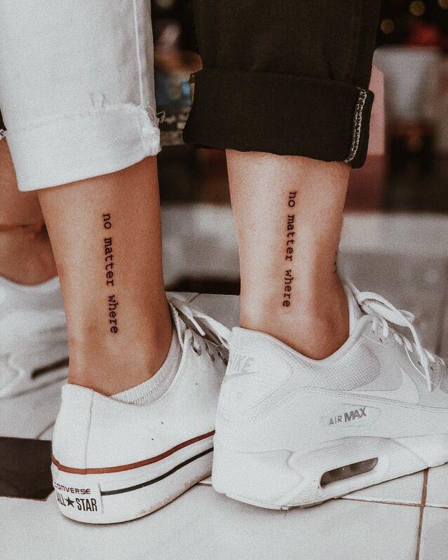No Matter What Matching Friendship Tattoo