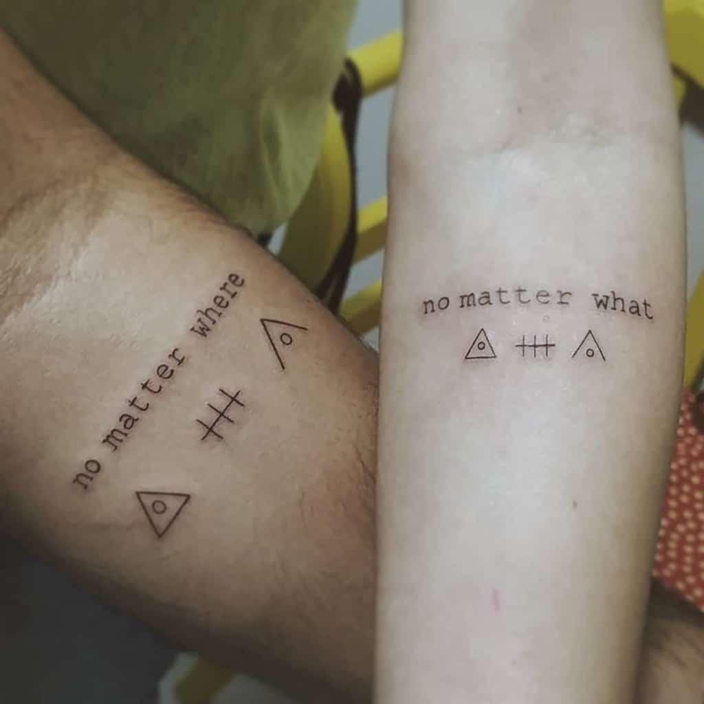 No Matter Where Friendship Tattoo