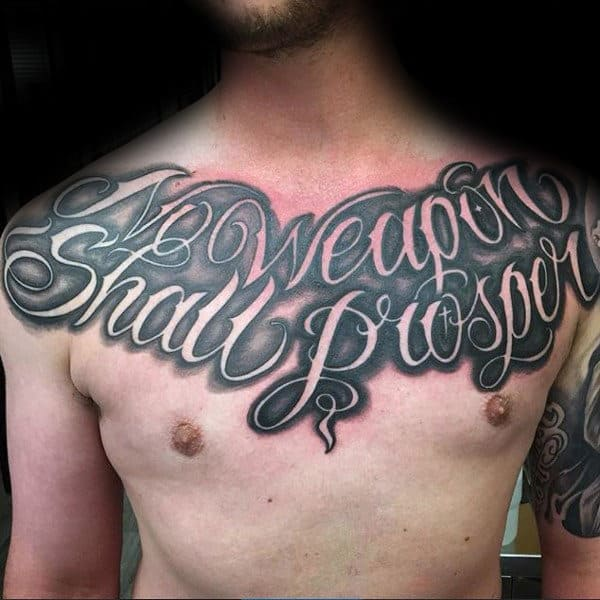 Chris Script Writing Tattoo S: 90 Script Tattoos For Men