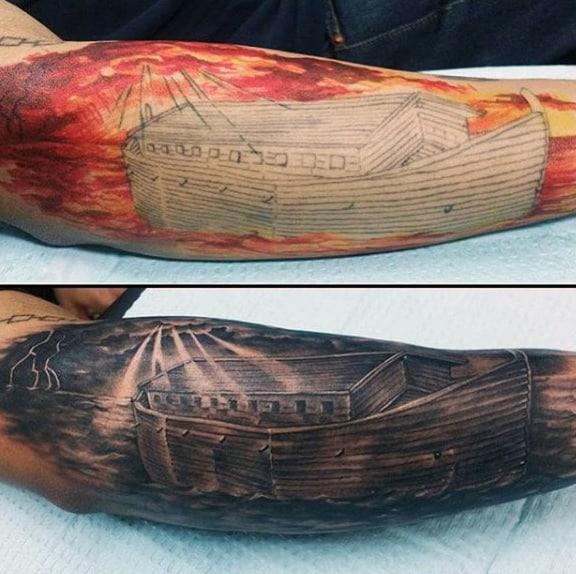Noahs Ark Christian Male Tattoo Design