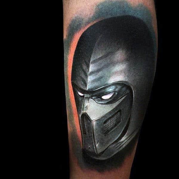 Noob Saibot From Mortal Kombat Mens Arm Tattoos