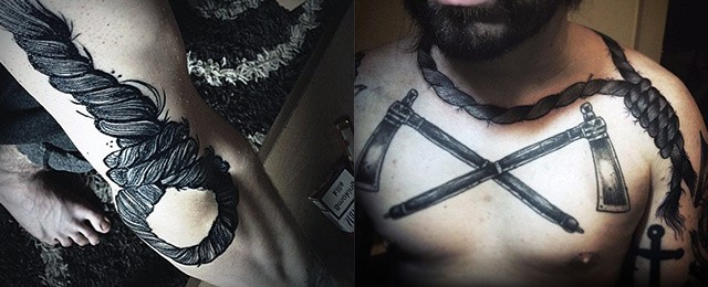Noose Tattoo Designs For Men
