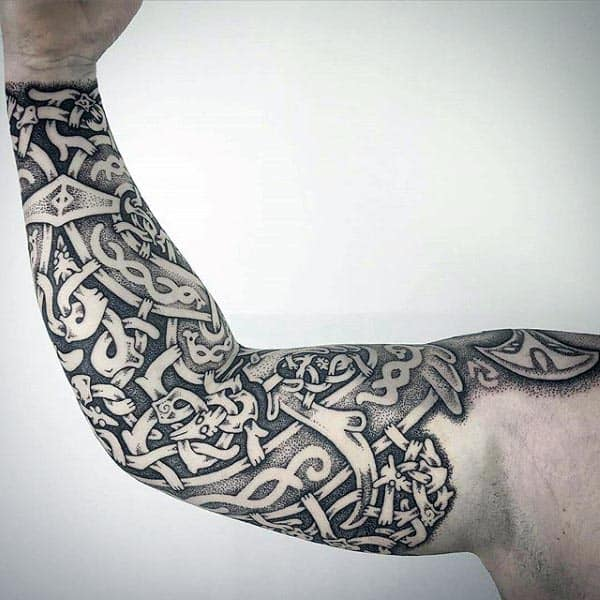 Norse Arm Cool Mens Tattoo Ideas