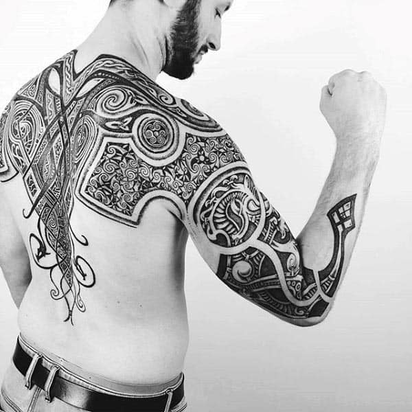 Norse Celtic Cool Arm Tattoo Designs For Guys