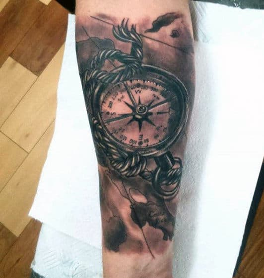 Norse Compass Tattoo Men