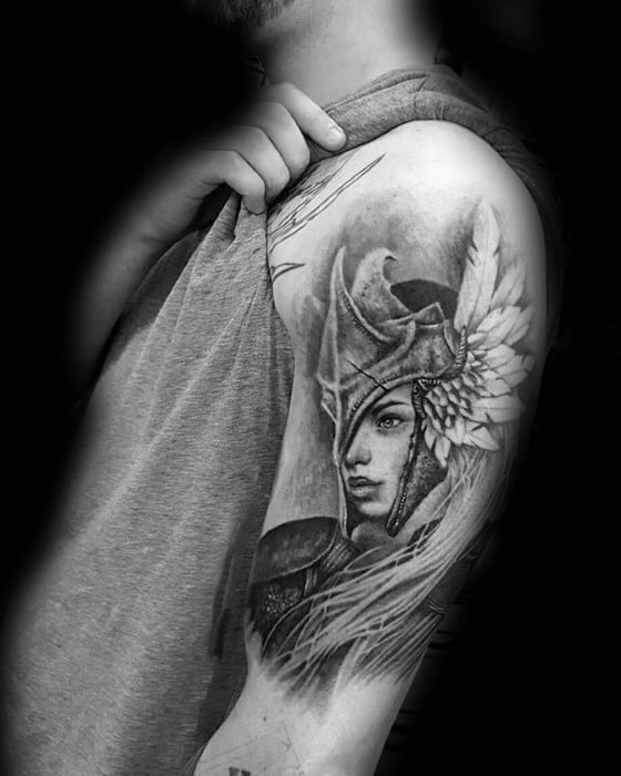 Norse Mythology Guys Valkyrie Tattoos On Arm