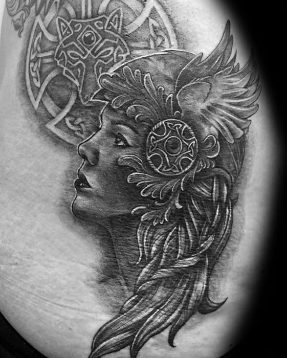 Norse Mythology Valkyrie Tattoo Ideas For Gentlemen On Back
