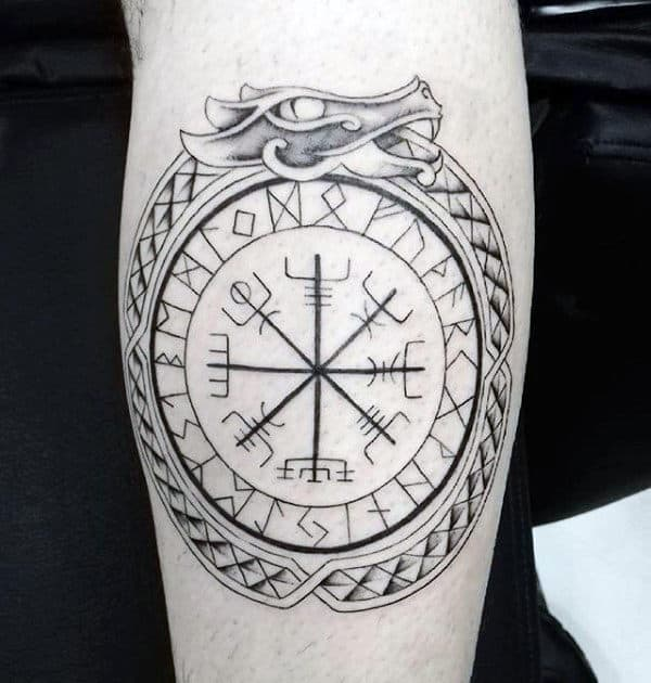 Norse Ouroboros Mens Symbol Forearm Tattoos