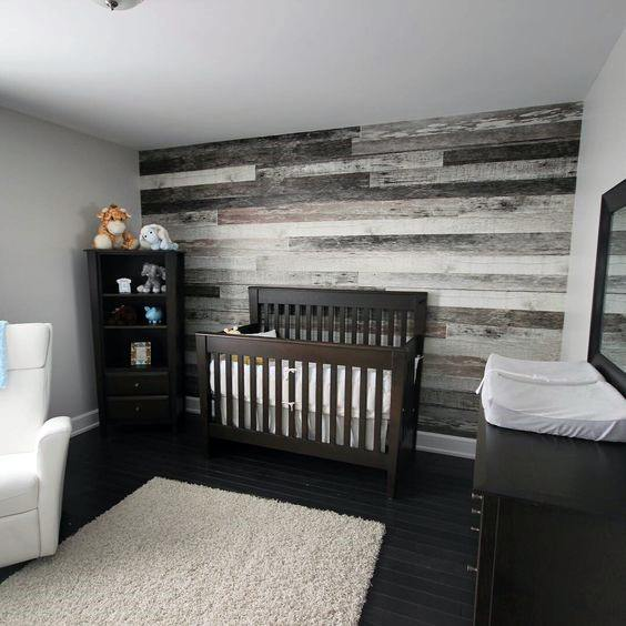Nursery Rustic Wood Wall Ideas Inspiration
