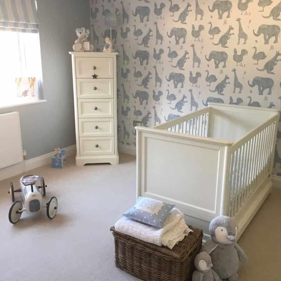 Nursery Wallpaper Ideas Lime Lace