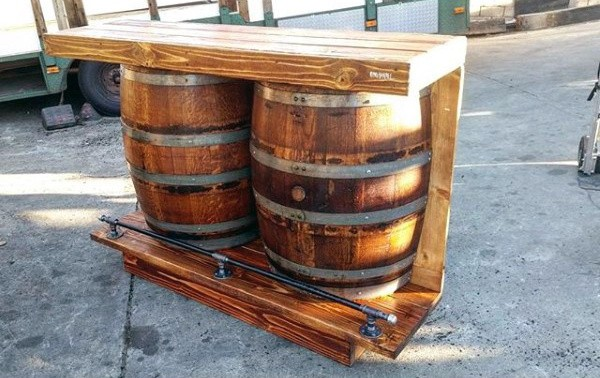 Oak Barrel Man Cave Furniture Bar Ideas