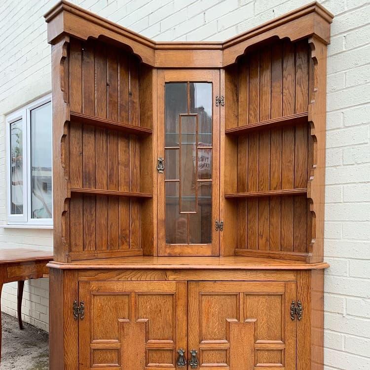 Oak Corner Liquor Cabinet Castleantiquewarehouse