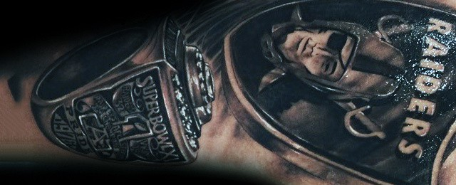 Oakland Raiders Tattoos For Men