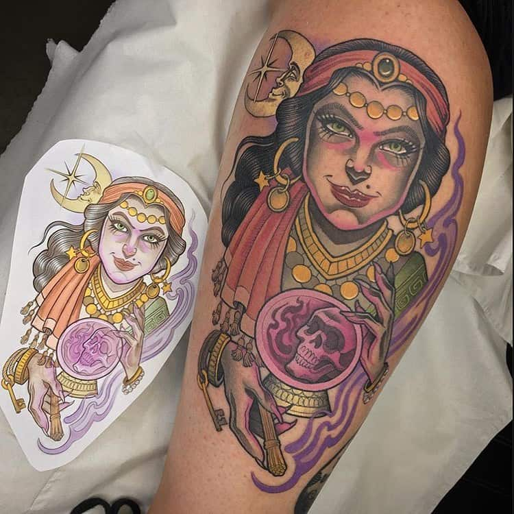 Occult Gypsy Tattoo