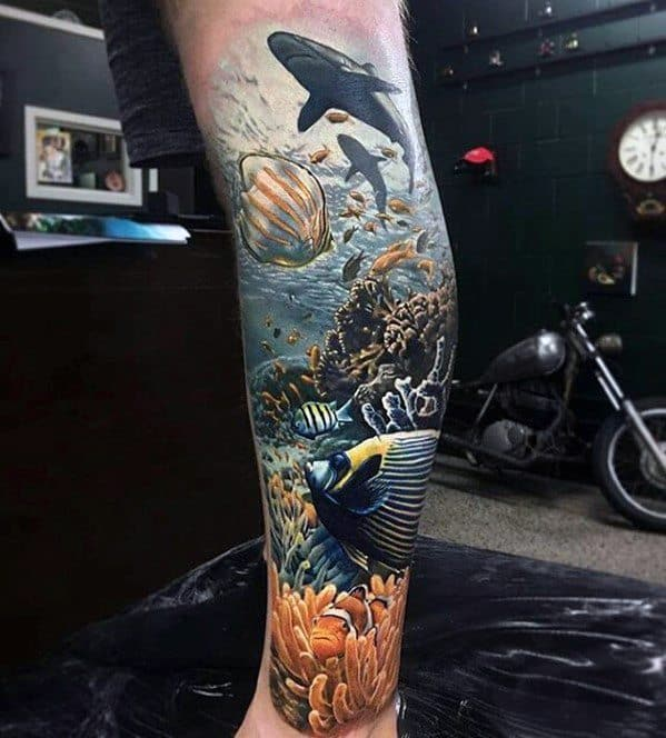 Ocean Themed Manly Greatest Tattoo Design Ideas For Men