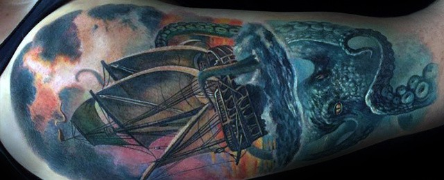 Octopus Arm Tattoo Designs For Men
