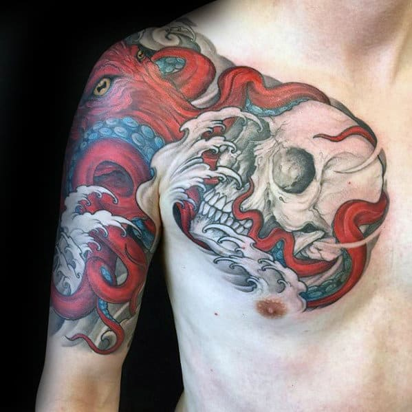 50 Octopus Sleeve Tattoo Designs For Men