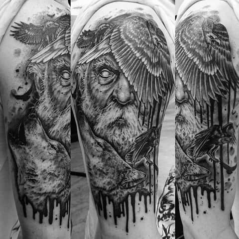 Odins Ravens Guys Tattoo Ideas