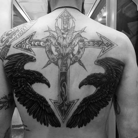 Odins Ravens Mens Tattoo Ideas
